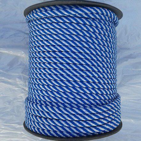 polipropileno trenzado blanco azul