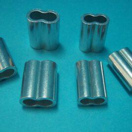 Grapa Aluminio Para Cuerda de 5MM