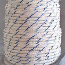 Nylon Trenzado Blanco/Azul 100M