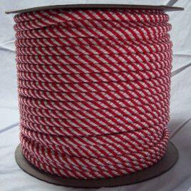 Polipropileno Trenzado Blanco/Rojo 100M